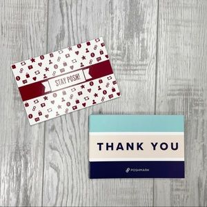 Poshmark Thank You Cards 25 Blue + 9 Red *Bundle Add On*